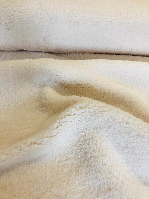 Teddy Peluche - crème - coupon 40cm/ 150cm
