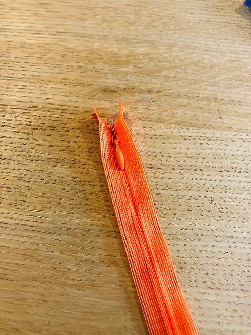 Zip nylon invisible - 25cm - orange