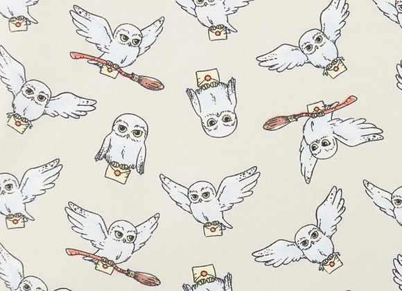 Coton - Harry Potter - Hedwige - 19,90€/m