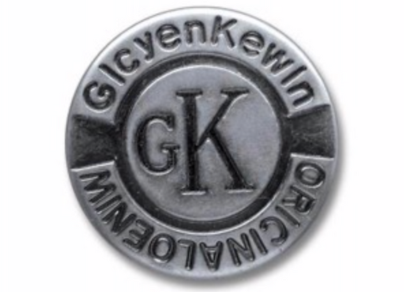 Boutons jeans GK design - argenté -  25mm - 1,20€/pce