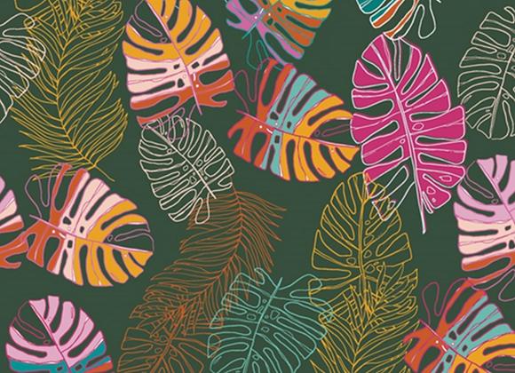 Coton - maara feuilles - 16€/m