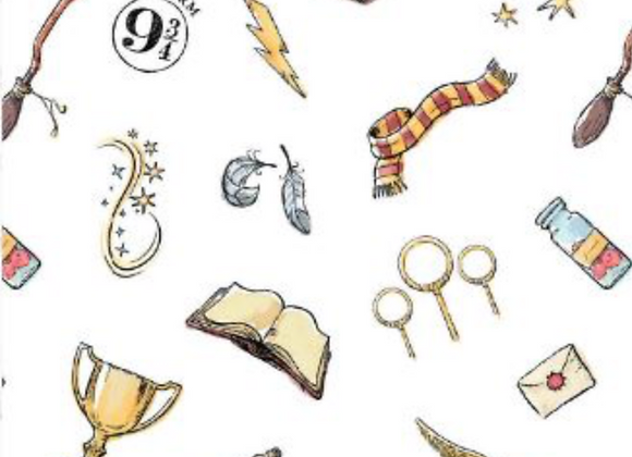 Coton - Harry Potter - Symboles - 19,90€/m
