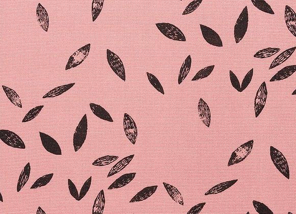 Canevas - rose - feuille noir - 17,5€/m
