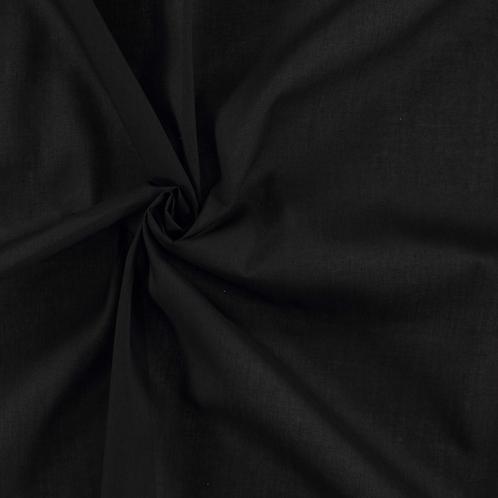 Coton unis - noir