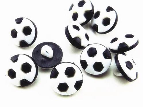 Boutons ballon de foot  -  13mm - 0,50€/pce