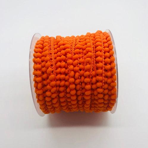Galon pompon micro 10mm - Orange
