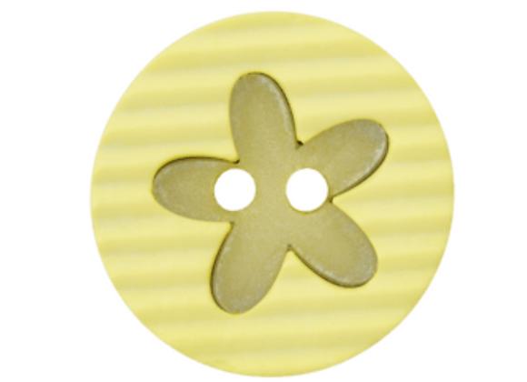 bouton - fleur jaune -20mm - 1,2€/pce