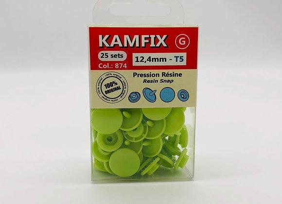 Pression Kam Fix - 25 Sets - 12,4mm - T5 - vert pistache