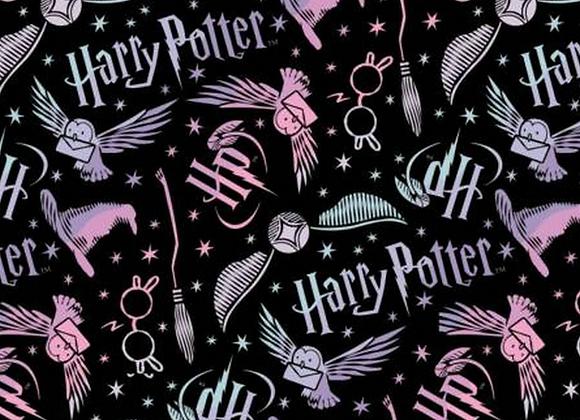 Flanelle  - Harry Potter Noir - 19,90€/m