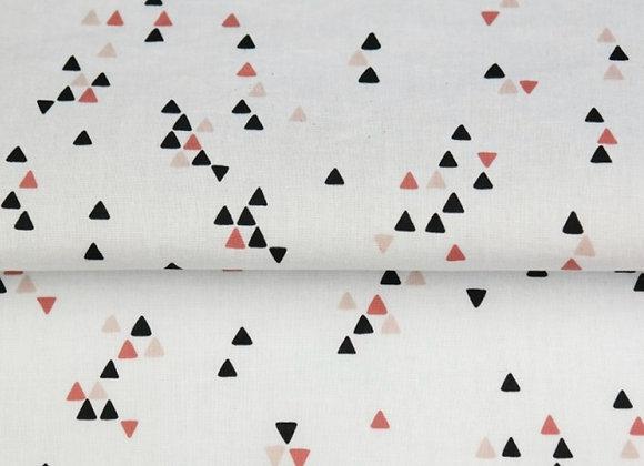 Popeline de coton -  trio triangle /rouille  - 9€/m