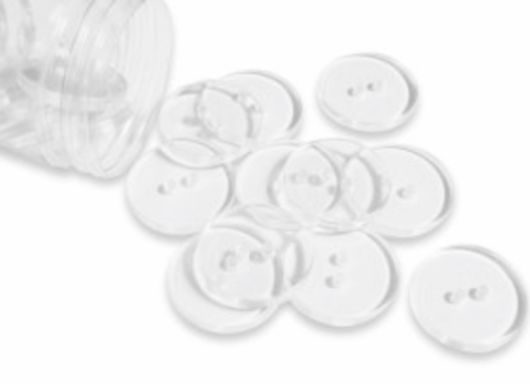 Boutons Transparent  - 23mm - 0,4€/pce