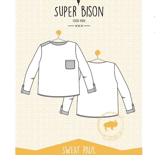 Patron enfant Sweat Paul Pack 6 ans au 12ans
