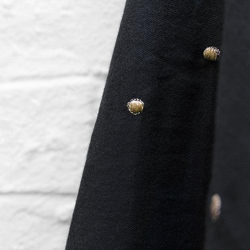 Gaze de Coton Atelier Brunette -  Stardust Black