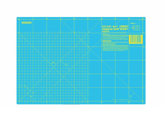 Fond de coupe OLFA - 45x30cm - turquoise