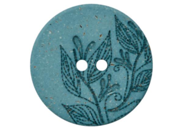 bouton recyclé - feuille  -23mm - 1,2€/pce