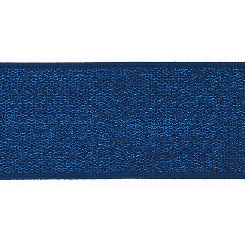 Elastique bleu Argenté - 4cm - 2,5€/m