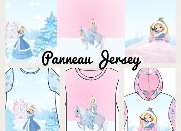 Panneau French Terry - Princesses  - 15€/m