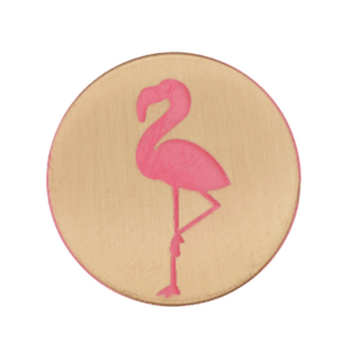 bouton - flamant rose  -23mm - 2,3€/pce