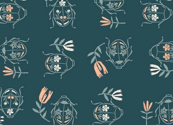 Coton - meriwether scarabé -  16€/m