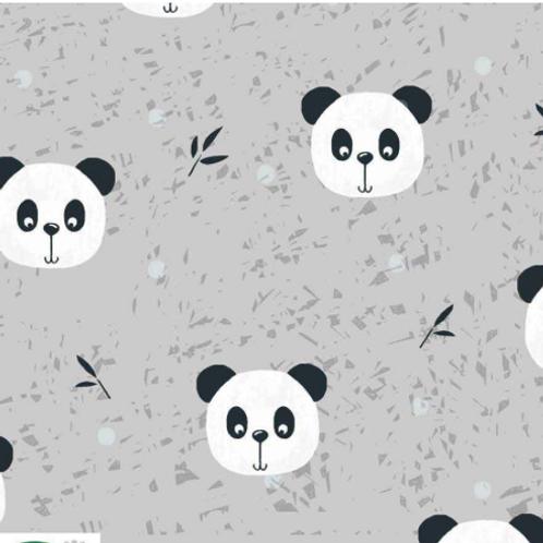 Jersey - pandas - coupon 70cm/160cm