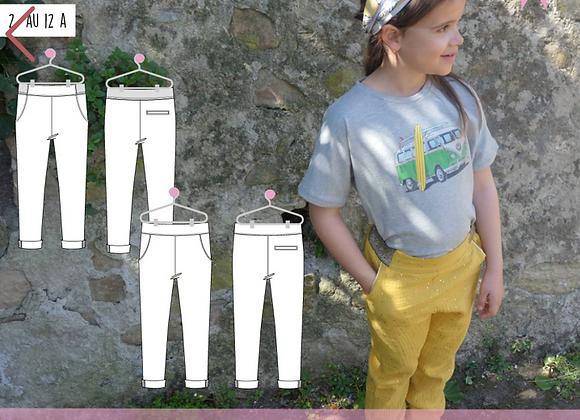 Patron pantalon Georgia 2/12 ans