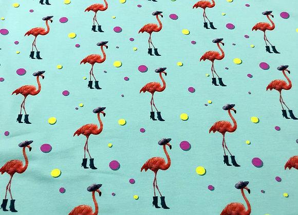 Jersey - Summer Flamingo Mint - 14€/m