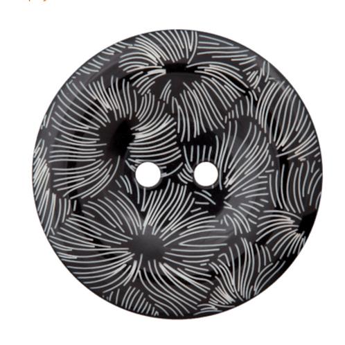 bouton - graphique noir  - 30mm - 2,30€/pce