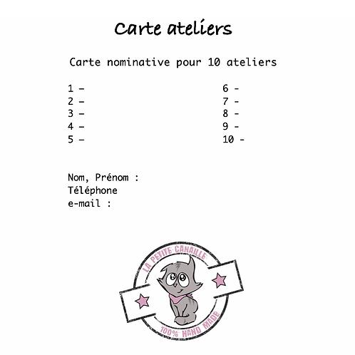 Carte Atelier