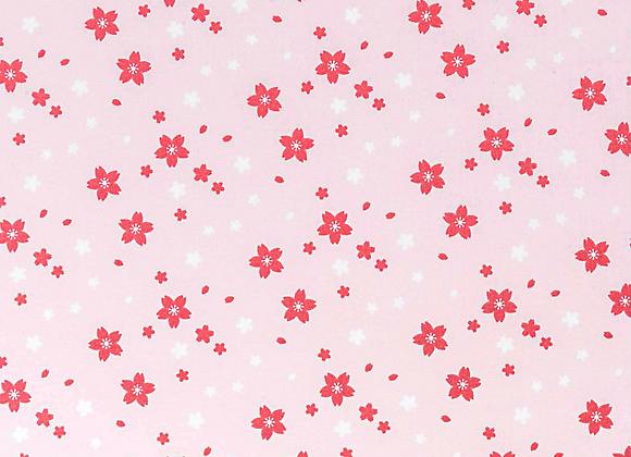 COTON - Petites fleurs rose - 17.5€/m