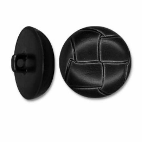 Boutons imitation cuir noir  -  22mm - 1,20€/pce