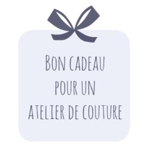 Bon cadeau pour un atelier de couture