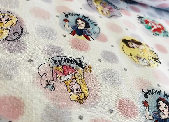 Coton - Princesses Disney à Pois - 15€/m