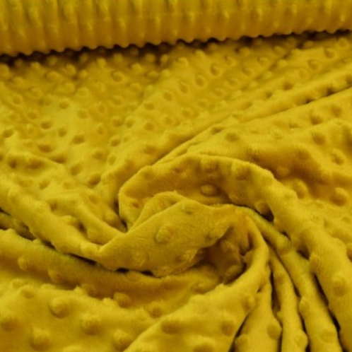 Minky - moutarde  - 9€/m