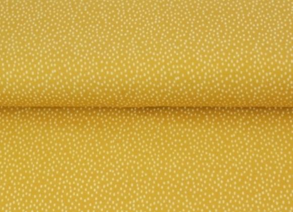 Jersey -  jaune moutarde trait blanc - 14€/m