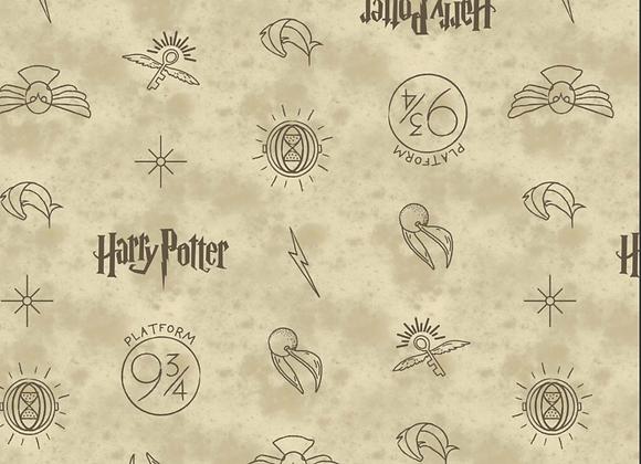 Coton - Harry Potter - Voie 9 3/4 - 19,90€/m