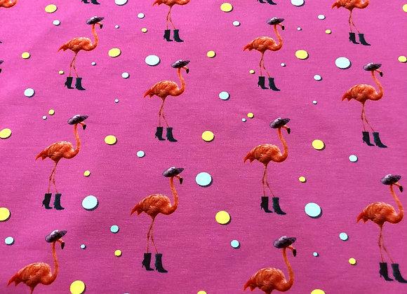 Jersey - Summer Flamingo Pink- 14€/m