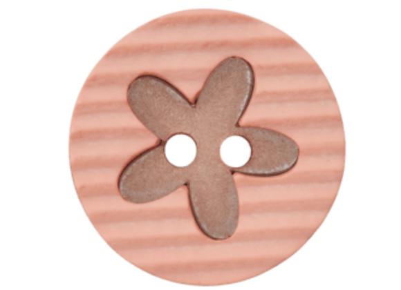 bouton - fleur rose -20mm - 1,2€/pce