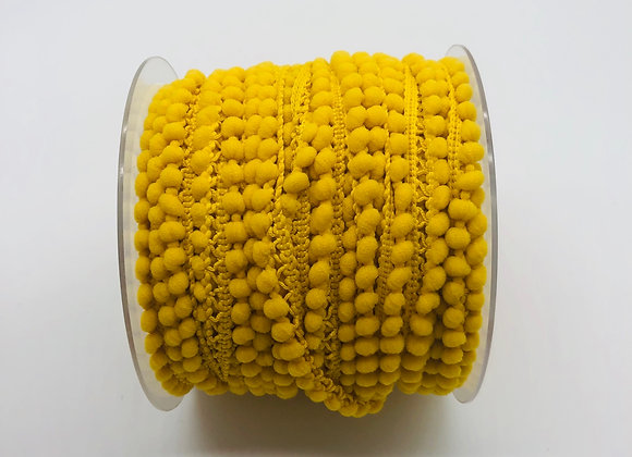 Galon pompon micro 10mm - Jaune
