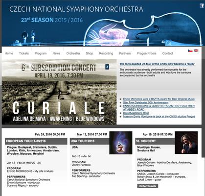 Czech National Symphony Orchestra Website