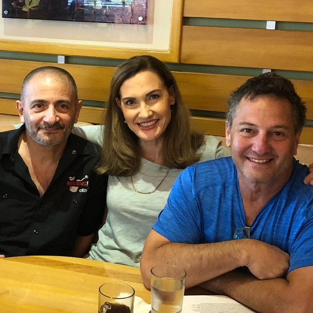 With Lisa Coffey and Denny Tedesco