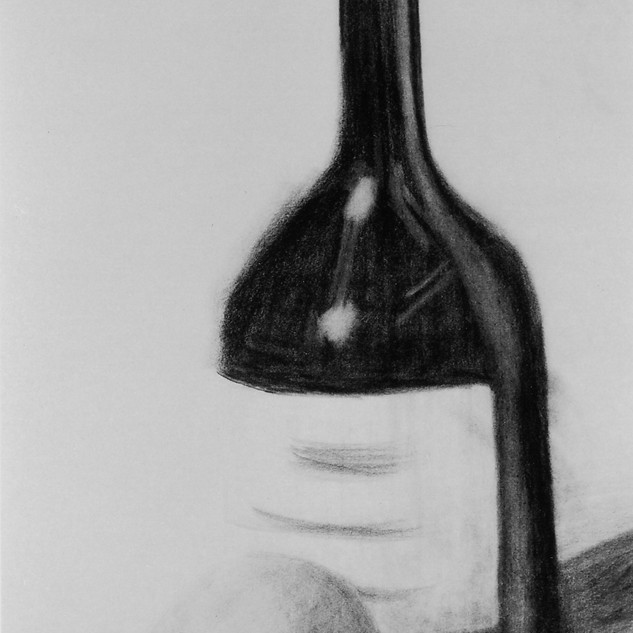 Wine Bottle and Orange