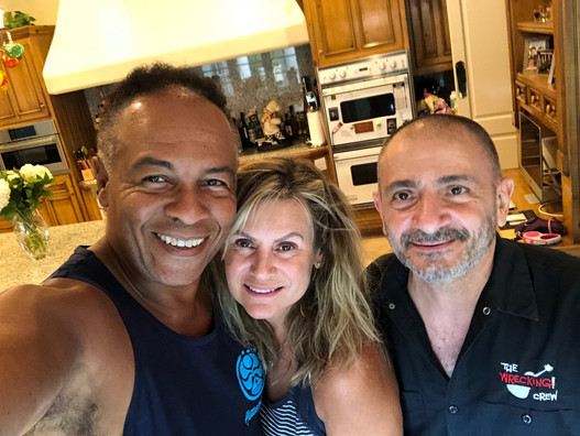With Ray Parker Jr. and His Wife