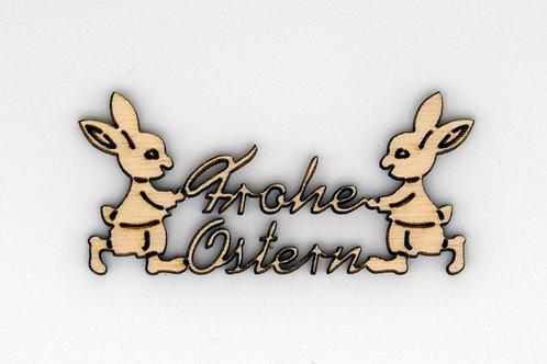 """Tischdeko - """"Frohe Ostern"""""""