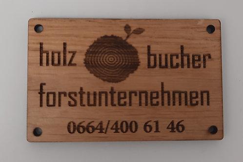 Kennzeichnung aus Holz