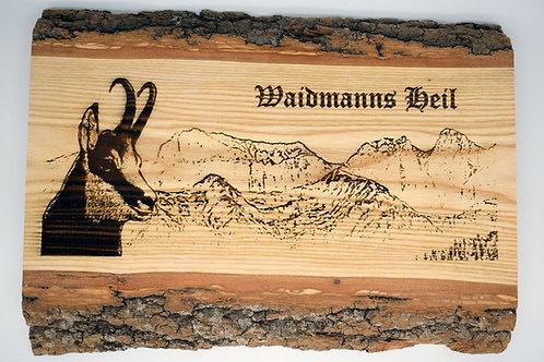 """""""Waidmanns Heil"""" - Bild auf Brett"""
