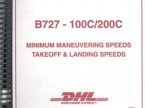 B727 Take Off & Landing Data card set