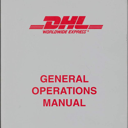 DHL General Operations Manual