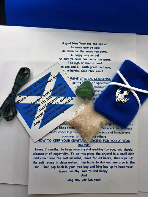 Charm Bag For Scotland Celtic Good Luck New Year First Foot Gift