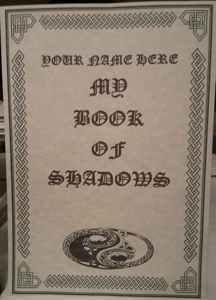 Pagan Poster PERSONALISED Book Of Shadows Parchment
