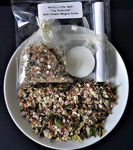 Witch's Little Spell kit ~ Top Protection ~ Bath ~ Shower